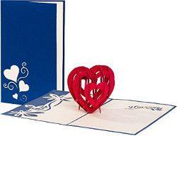 tarjeta de amor 3d blue. Tarjetas de amor