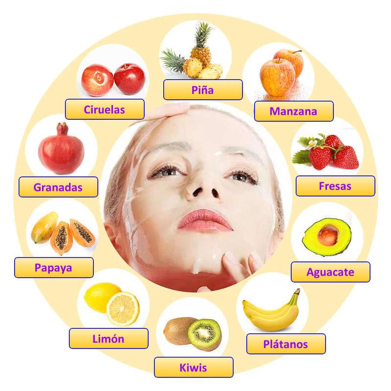 mascarilla de frutas y colágeno